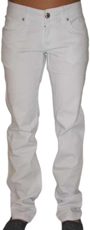 Γυναικείο λευκό τζιν παντελόνι με στρας