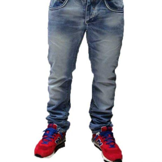 Ανδρικό jean πετροπλυμένο μπλε