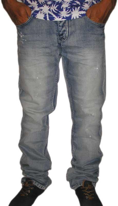 Ανδρικό jean παντελόνι ξεβαμμένο με πιτσιλιές