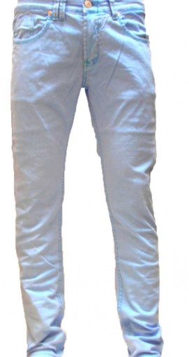 Men's color denim neon blue