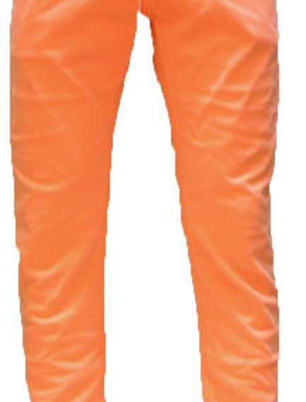 Men's color denim neon orange