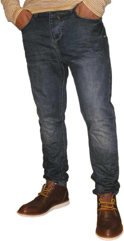 Ανδρικό jean σκούρο μπλε ξέβαμα