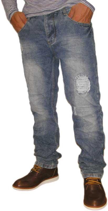 Ανδρικό jean ξεβαμμένο με σκισίματα