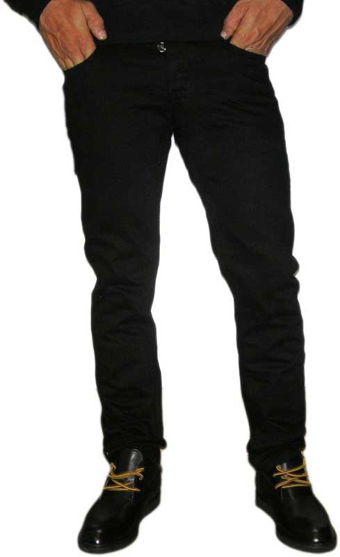 Ανδρικό μαύρο τζιν παντελόνι