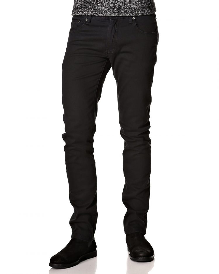 Kgn ανδρικό jean παντελόνι μαύρο