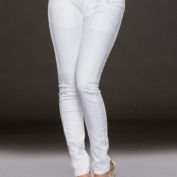 Εφαρμοστό τζιν παντελόνι Άσπρο