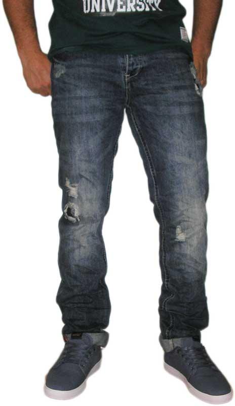 Ανδρικό ξεβαμένο jeans με σκισίματα