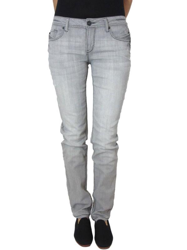 Γυναικείο slim fit jean ξεβαμμένο γκρι