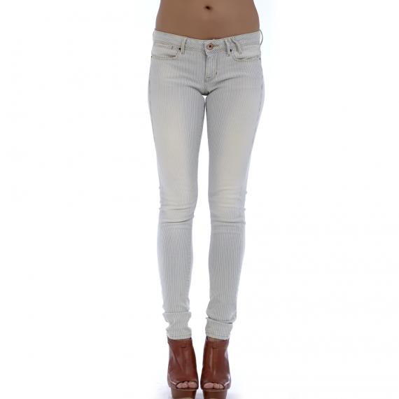 GUESS - Γυναικείο παντελόνι GUESS γκρι-λευκό