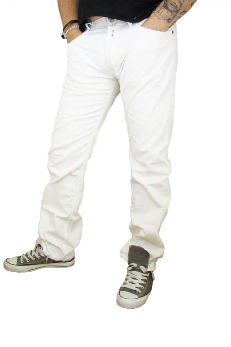 Replay ανδρικό bootcut denim λευκό
