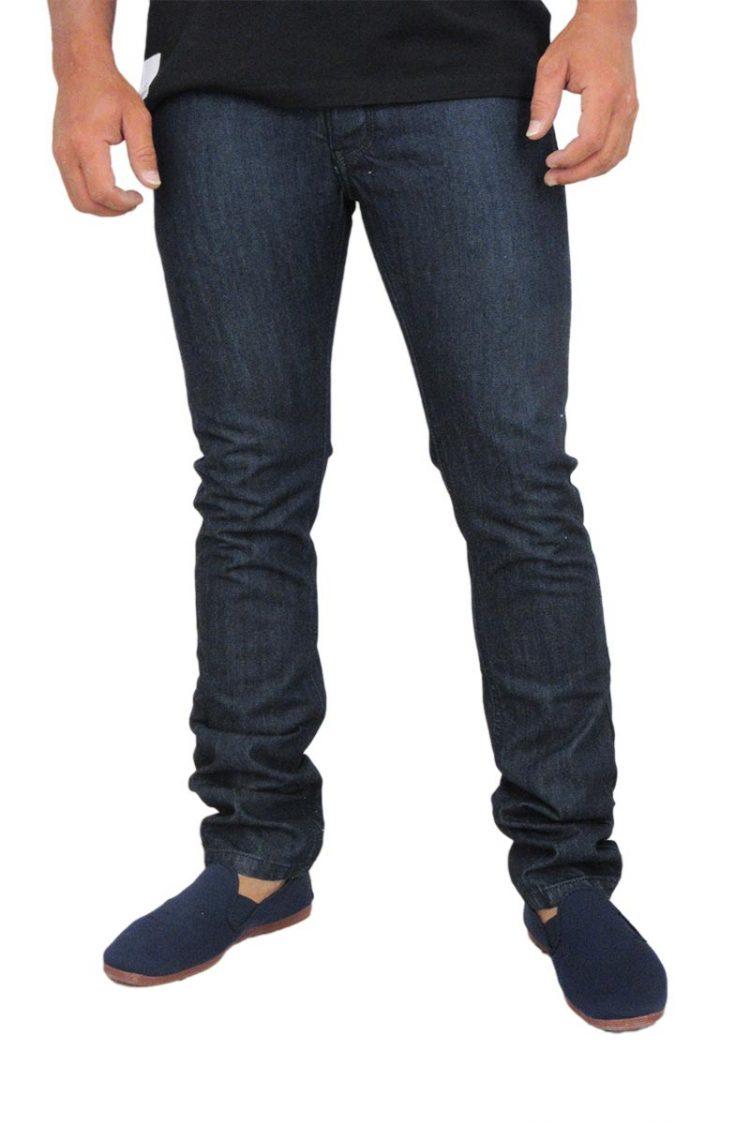 Ανδρικό slim fit jean σκούρο μπλε