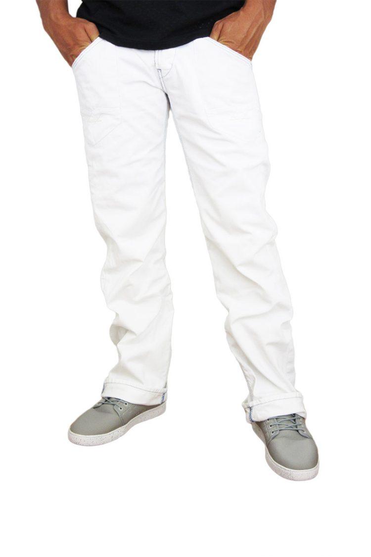Replay ανδρικό bootcut jean λευκό