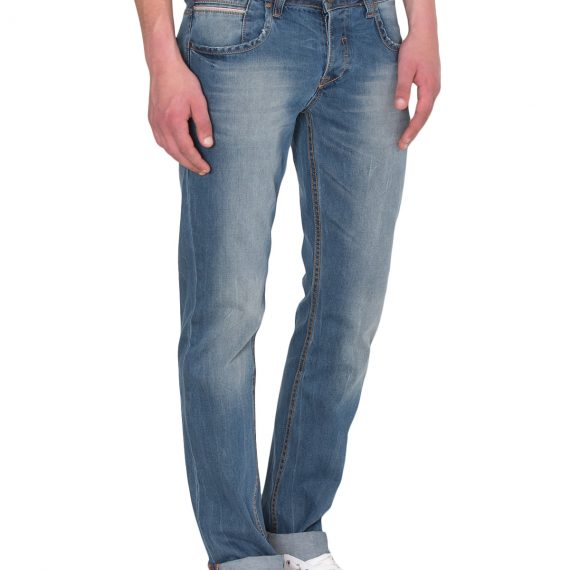 Slim Fit Ανδρικό Παντελόνι Τζίν Mid Wash