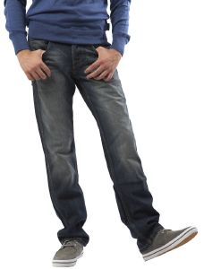 LOW STRAIGHT JEANS CRANK WRANGLER DIRTY ΜΠΛΕ (29)