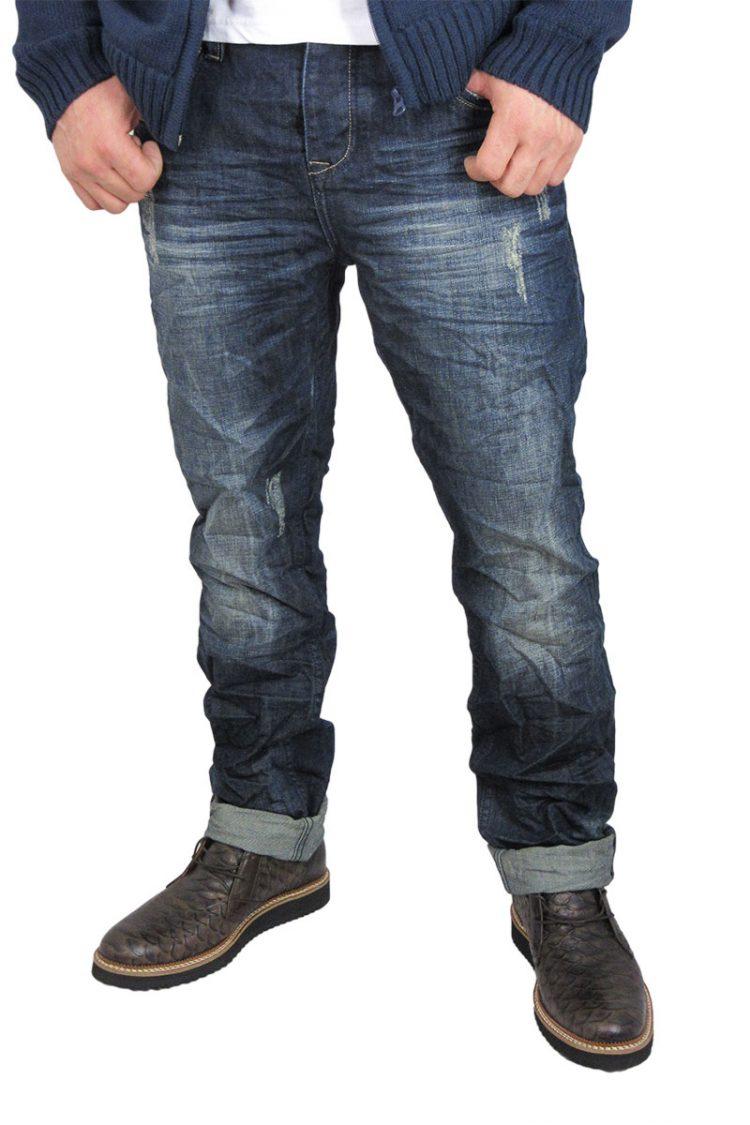 Ανδρικό jean με εκδορές