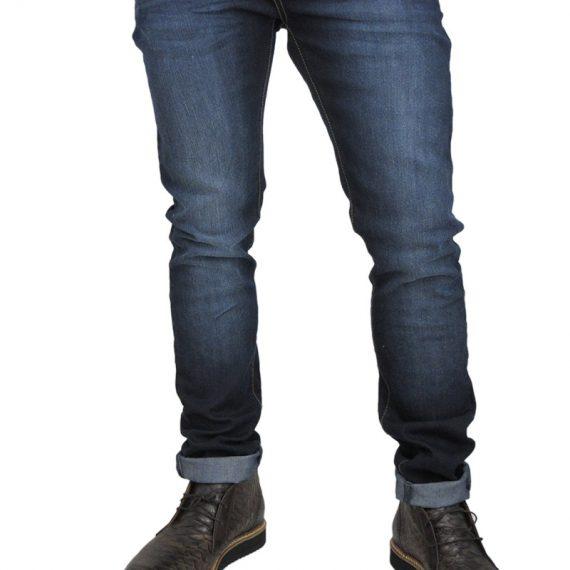 Rock & Religion ανδρικό skinny jeans Rodan σκούρο μπλε ξέβαμα