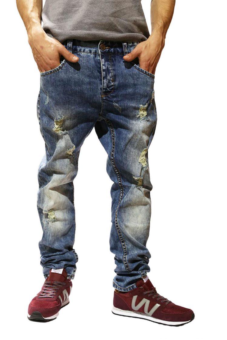 Anerkjendt Joey ανδρικό jean ξεβαμμένο με σκισίματα