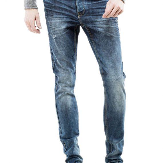 Dr Denim slim fit ανδρικό jean παντελόνι Clark mid blue