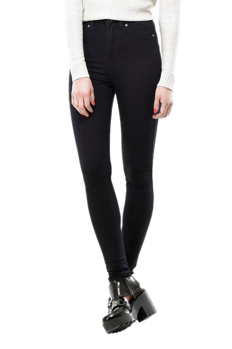 Dr Denim γυναικείο ψηλόμεσο skinny jean Solitaire σκούρο μπλε