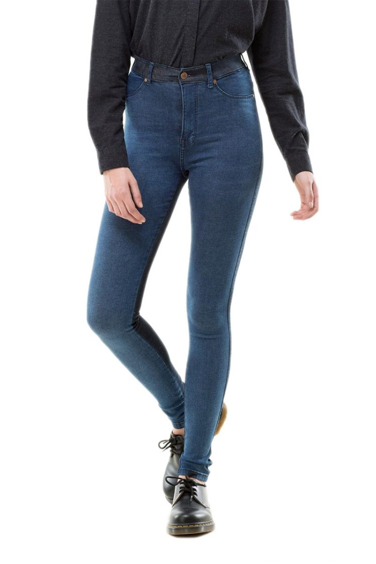 Dr Denim γυναικείο ψηλόμεσο skinny jean Solitaire blue block