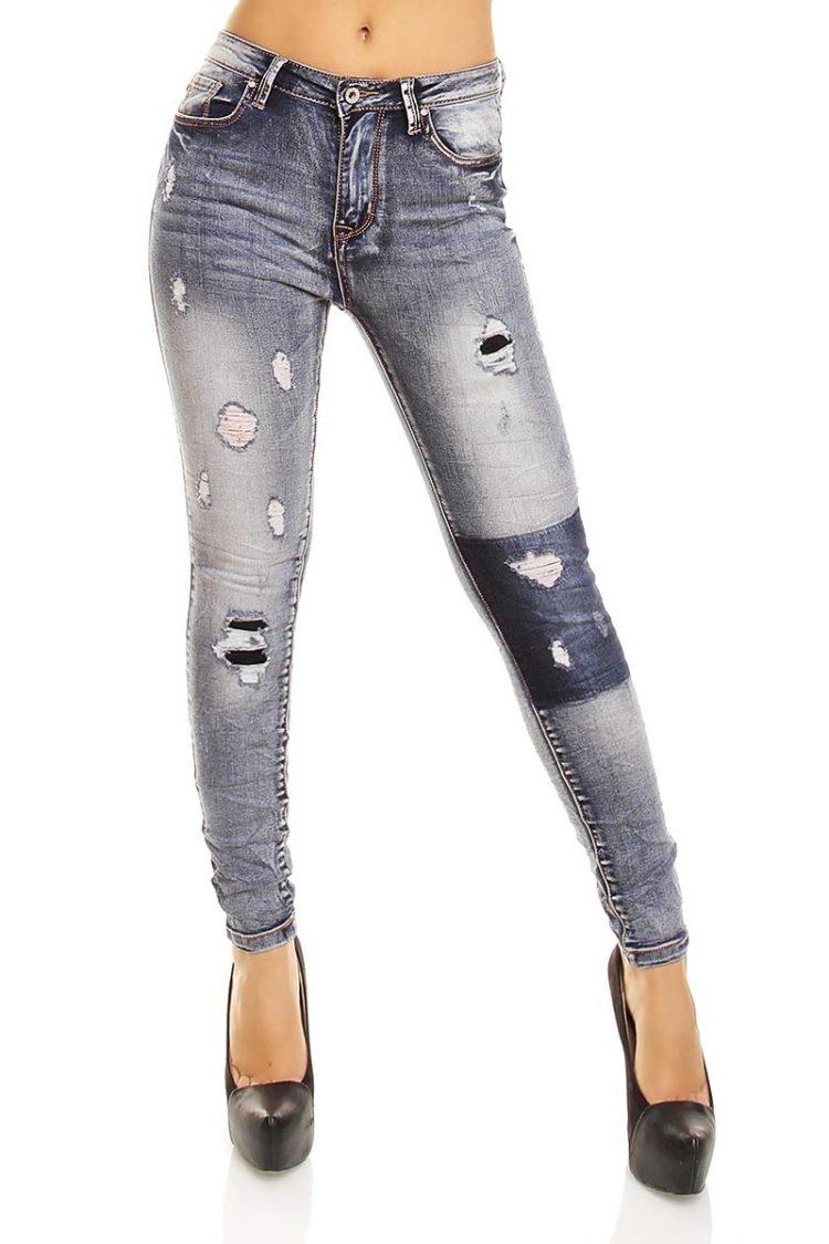Γυναικείο skinny jeans με σκισίματα