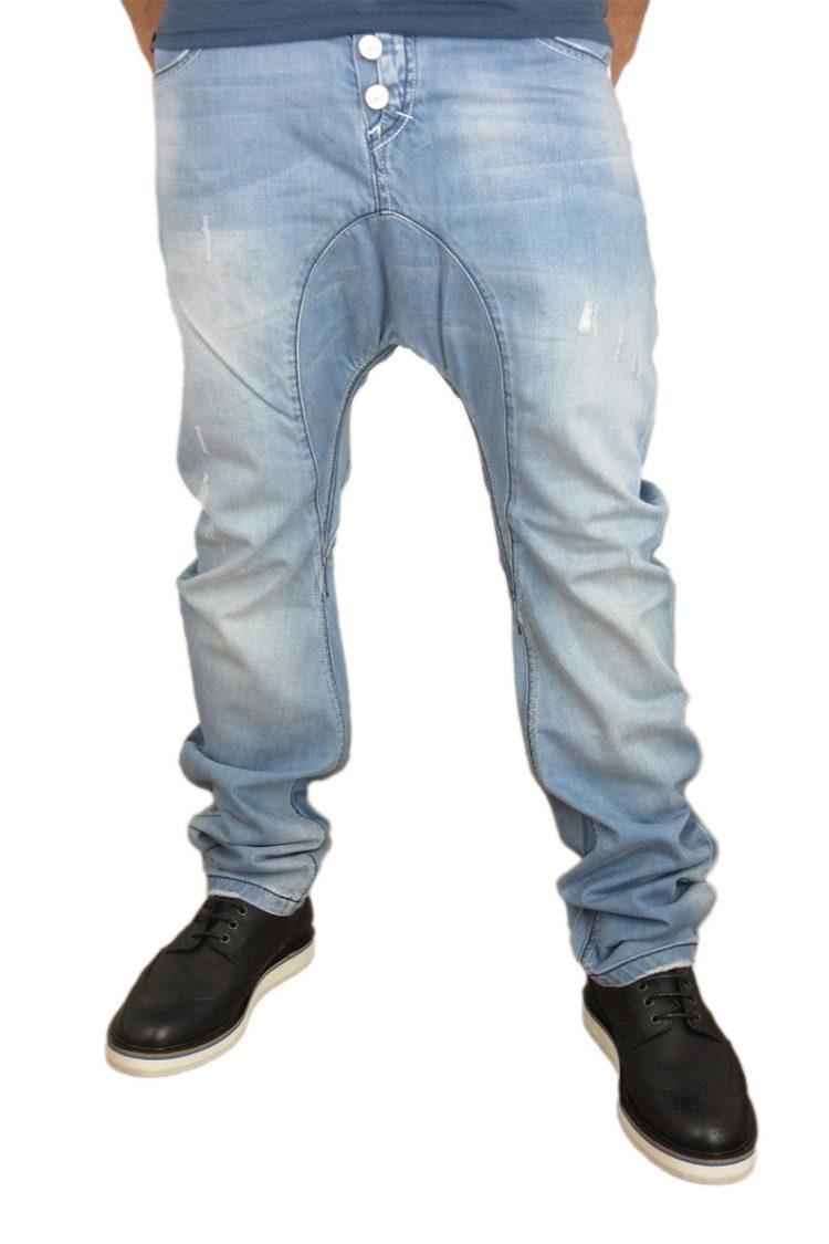 Humor Santiago jeans ξεβαμμένο με εκδορές