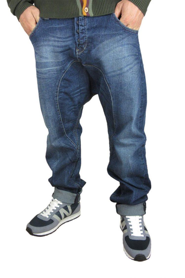 Humor Santiago jeans σκούρο μπλε με ξέβαμα