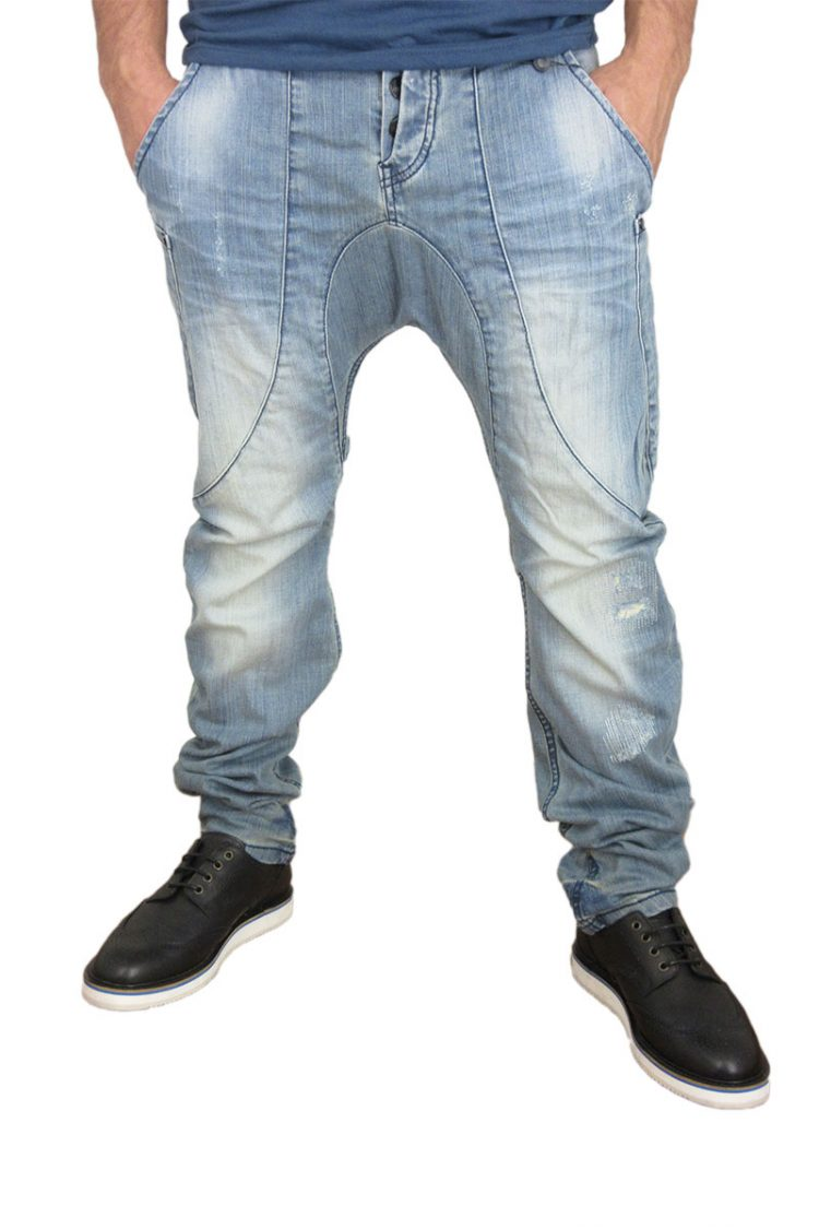 Humor Zanka jeans ξεβαμμένο με εκδορές