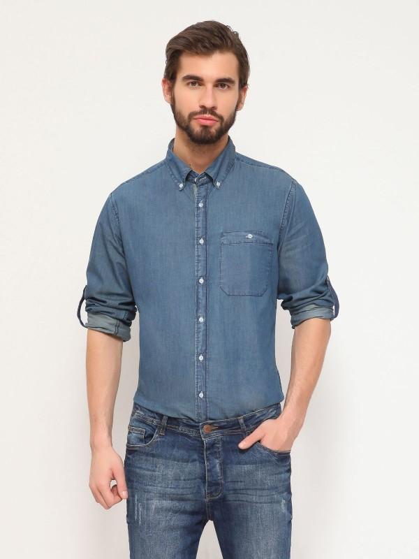 TOP SECRET τζιν μακρυμανικο πουκαμισο