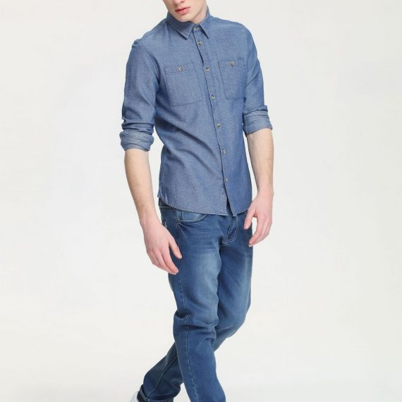 TOP SECRET τζιν πουκαμισο slim fit