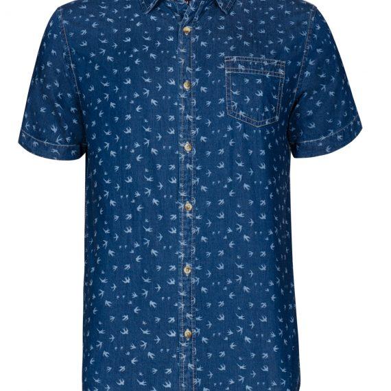 TOP SECRET ανδρικο τζιν πουκαμισο με print