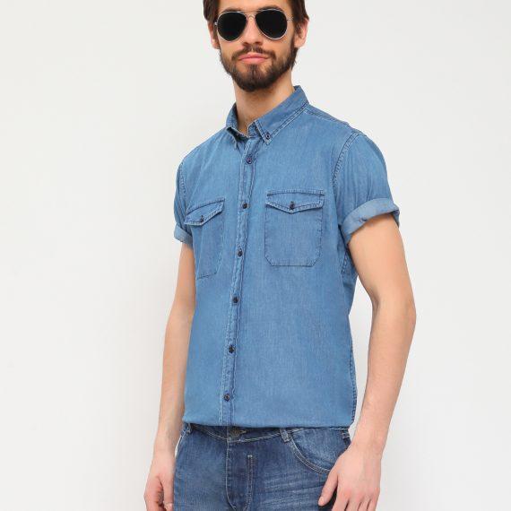 TOP SECRET ανδρικο τζιν πουκαμισο