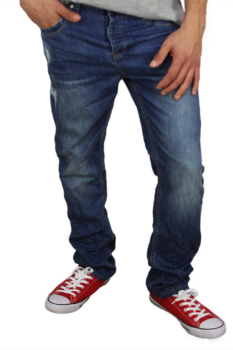 Ανδρικό jean ξεβαμμένο με μικροεκδορές