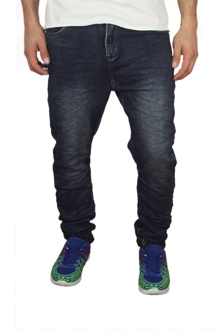 Ανδρικό slim fit jeans σκούρο μπλε