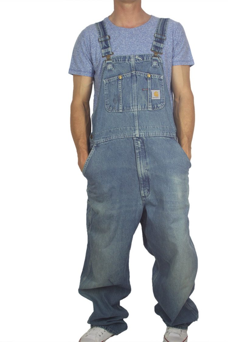 90s vintage faded denim overall