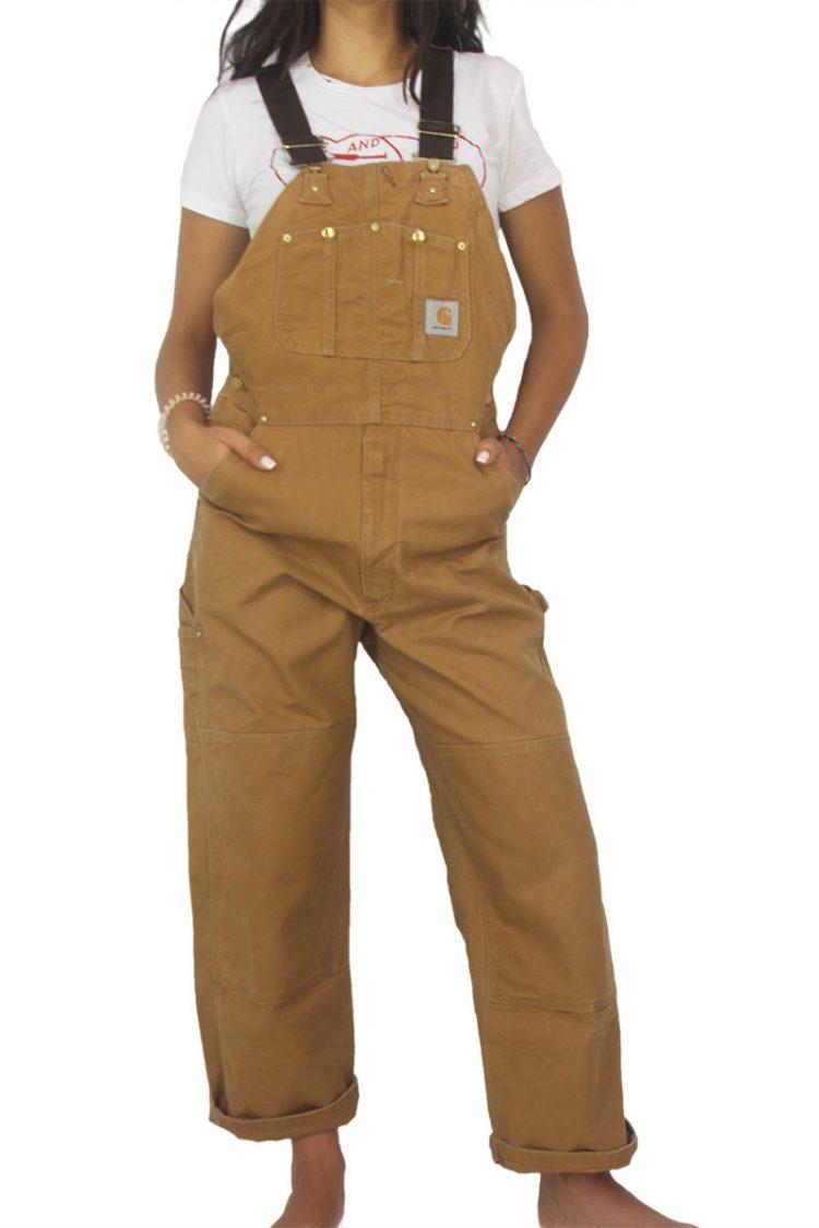 90s vintage brown denim overall