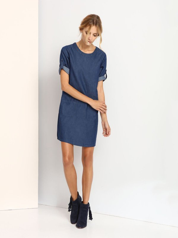 TOP SECRET κομψο τζιν φορεμα