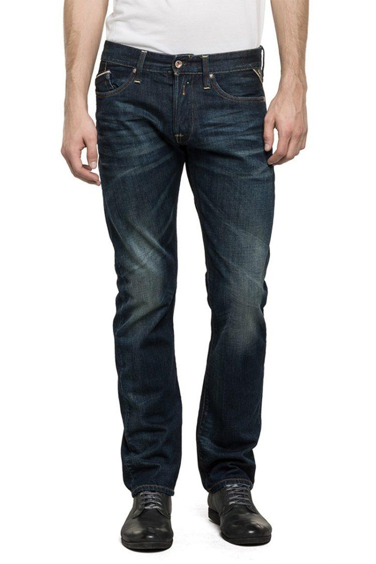 Replay ανδρικό Waitom regular slim fit jeans dark wash