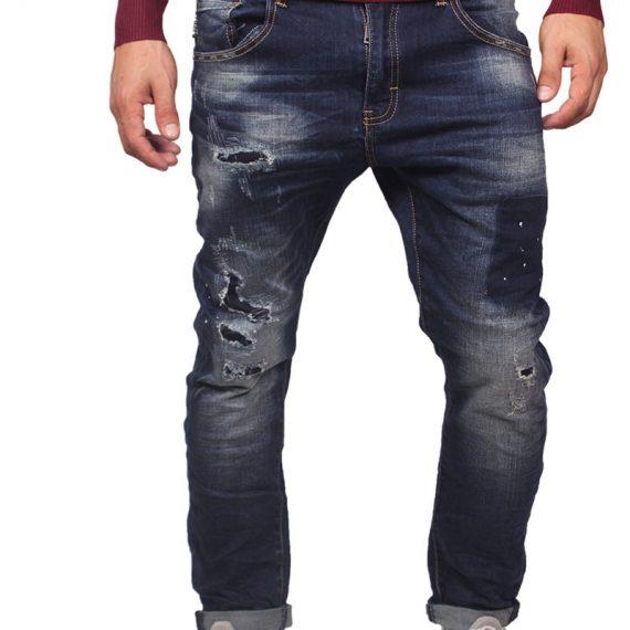 Ryujee Jack ανδρικό μπλε distressed jeans