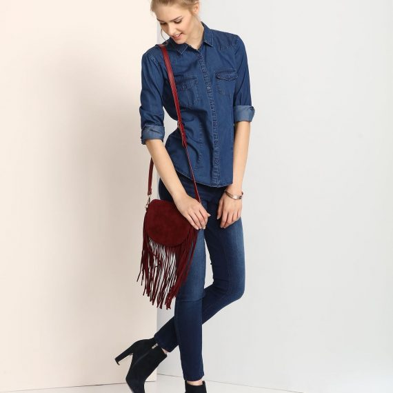TROLL γυναικειο τζιν πουκαμισο