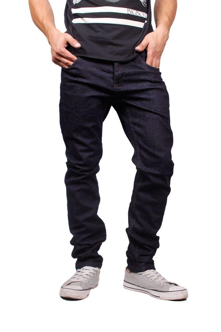 Anerkjendt slim fit raw jeans Joey blue