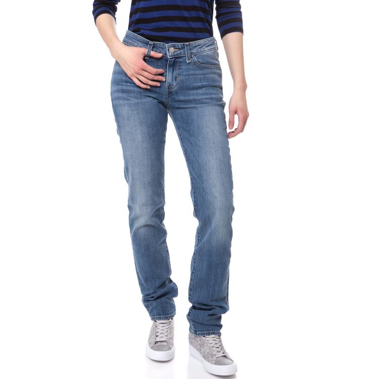 LEVIS - Γυναικείο ψηλομέσο τζιν παντελόνι Levi's 712 SLIM ανοιχτό μπλε