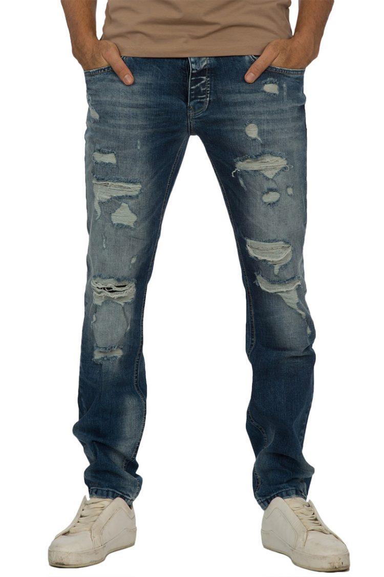 Ανδρικό jean με σκισίματα