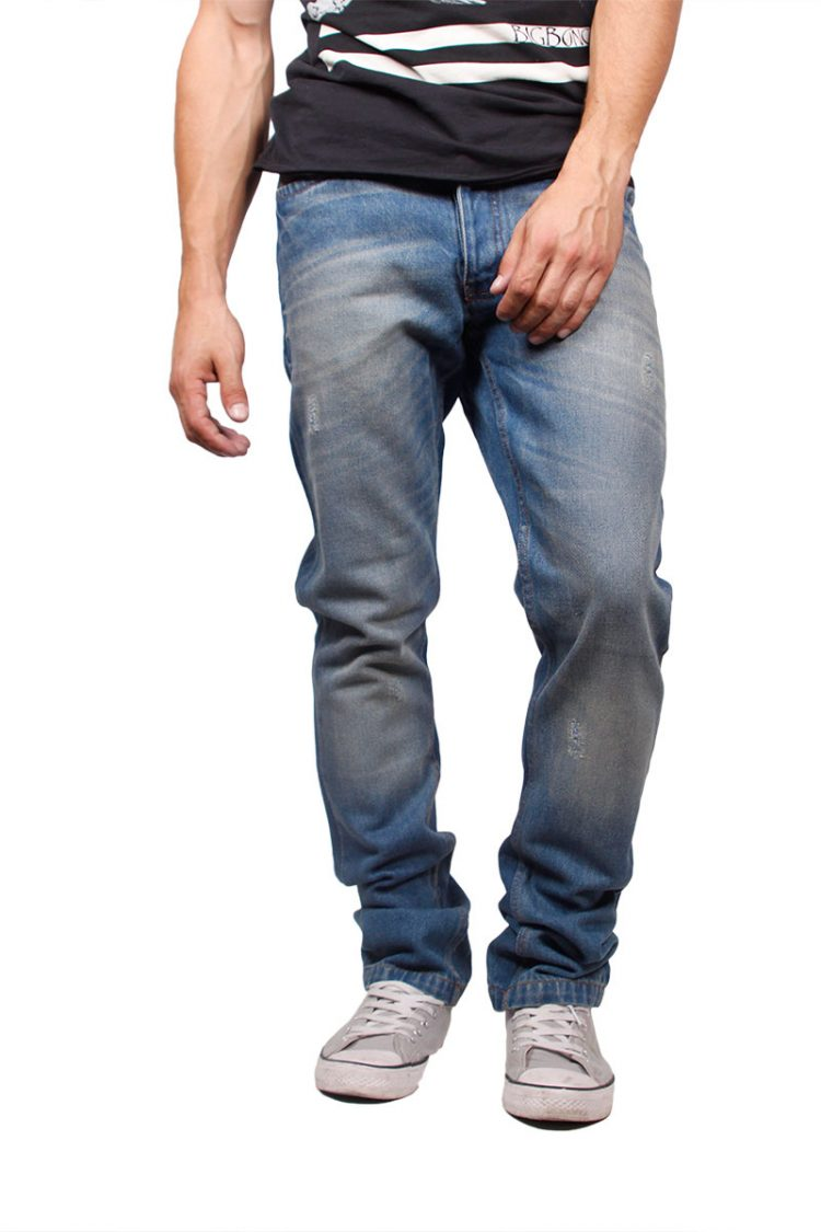 Anerkjendt skinny fit jeans Jake blue nights