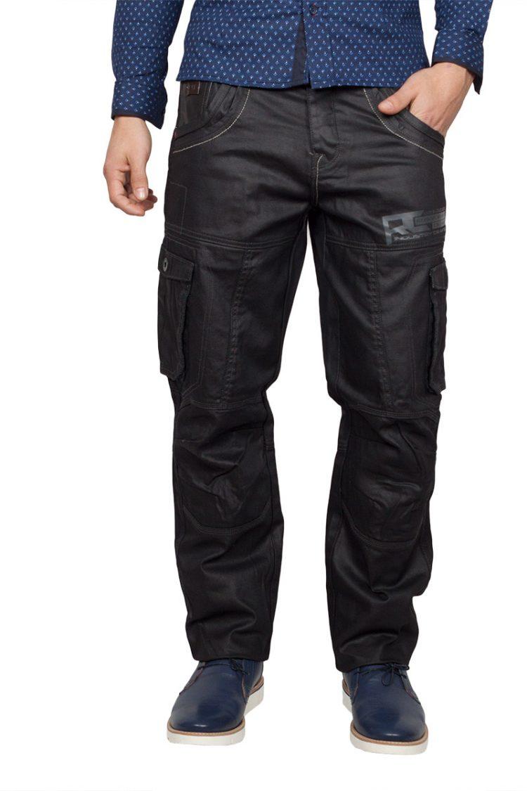 Rawcraft ανδρικό cargo jeans μαύρο