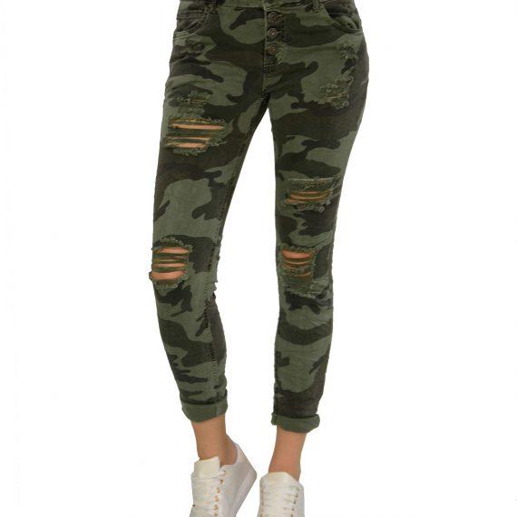 Γυναικείο Παντελόνι Παραλλαγή με φθορές CY77314