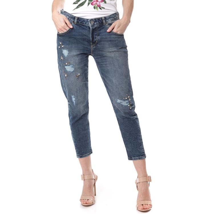 GUESS - Γυναικείο τζιν παντελόνι TAPERED RELAX Guess μπλε