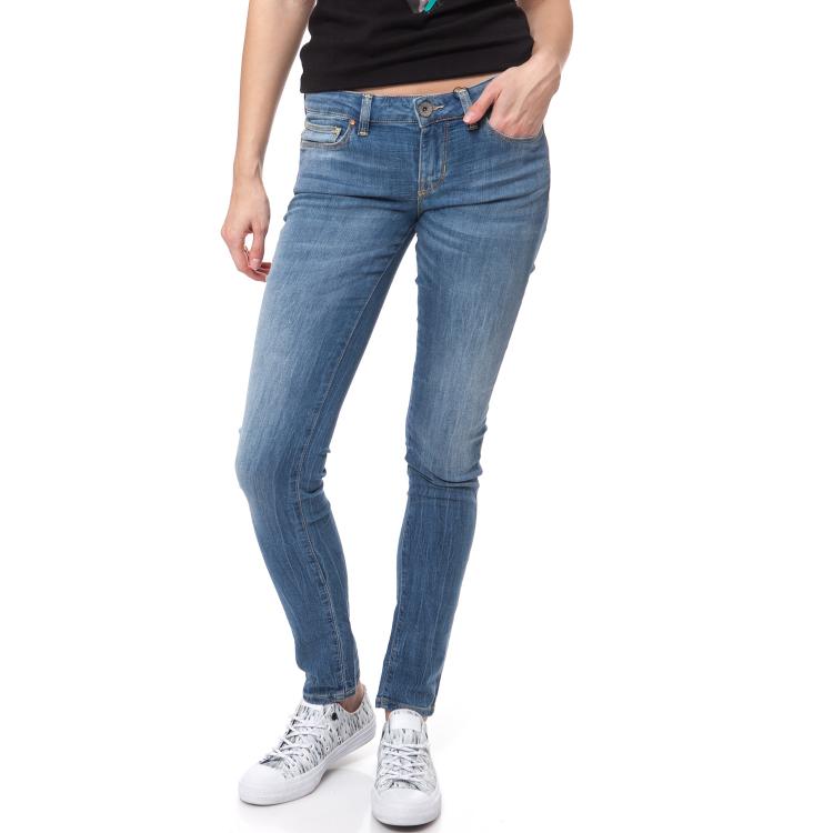 GUESS - Γυνακείο τζιν παντελόνι SKINNY LOW LIGHT WEAVE DENIM Guess μπλε