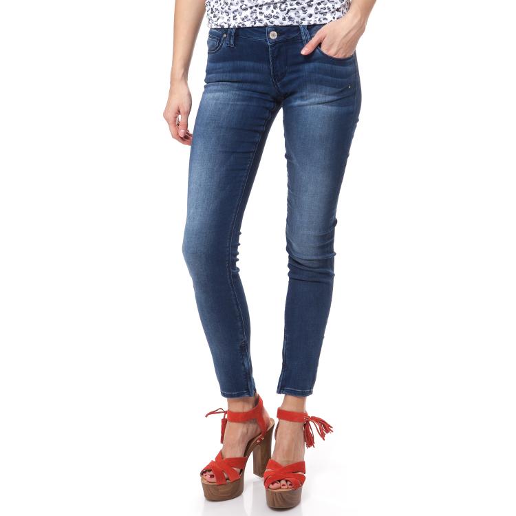 GUESS - Γυναικείο τζιν παντελόνι SKINNY ULTRA LOW-LIQUID Guess μπλε