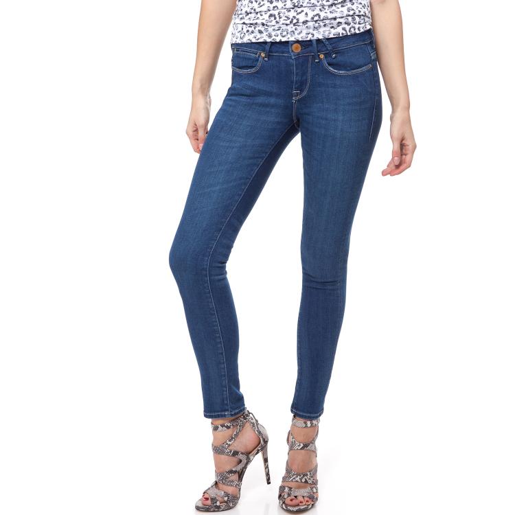 GUESS - Γυναικείο τζιν παντελόνι JEGGING ANKLE BLUE ACQUAMARI Guess μπλε